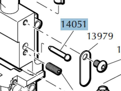 Primer retaining pin for Dillon Square Deal code 14051