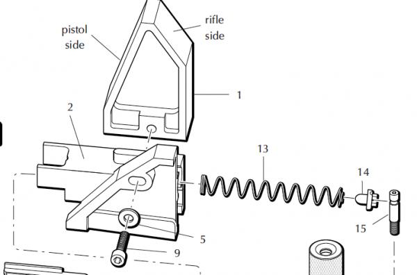 Dillon Case insert slide assembly code 97082